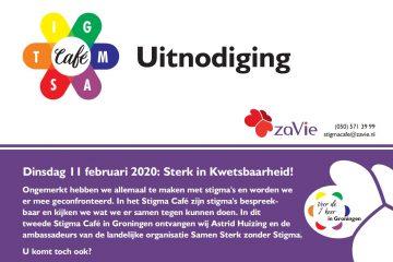 Voorkant uitnodiging Stigma Café 11 februari