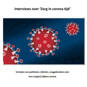 Voorkant van de rapportage met daarop een afbeelding van het coronavirus.